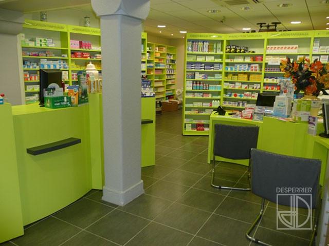 Cr ation et agencement de magasins pharmacie desperrier for Agencement pharmacie meuble
