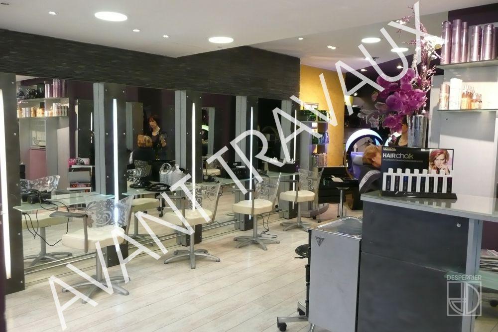 Cr ation et agencement de magasins salon de coiffure desperrier - Agencement d un salon de coiffure ...