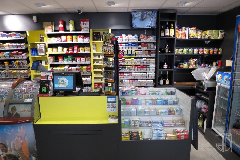 Cr ation et agencement de magasins tabac presse desperrier for Meuble bureau tabac